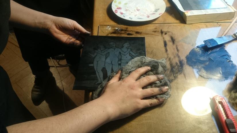 cours atelier gravure Strasbourg